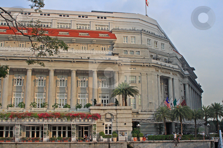 Fullerton Hotel Singapore stock photo, Fullerton Hotel in Colonial Quarterl Singapore;