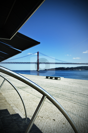 Tagus riverside stock photo, View of Tagus riverside in Lisbon, Portugal by Manuel Ribeiro