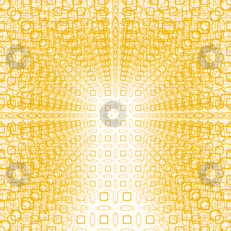 Blurred yellow tunnel pattern stock photo, Texture of many yellow shapes over eachother suggesting depth by Wino Evertz