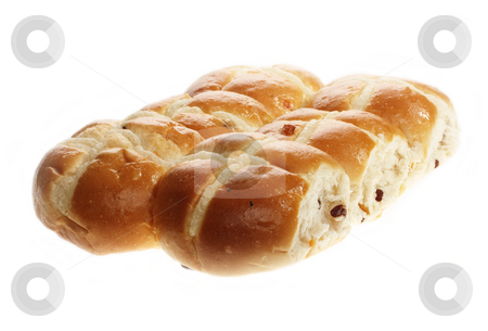 Easter hot cross buns stacked on a flat plate stock photo, Easter hot cross buns stacked on a flat plate by Christopher Meder