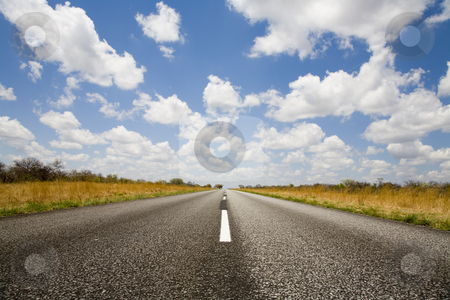 On the road stock photo, On the road in Namibia, Africa by mdphot