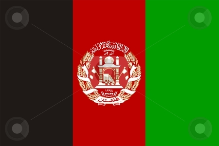 Afghanistan Flag stock photo, 2D illustration of Afghanistan flag color vector by Tudor Antonel adrian