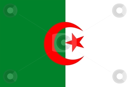 Algeria Flag stock photo, 2D illustration of the flag of Algeria vector by Tudor Antonel adrian