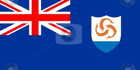 Anguilla Flag stock photo, 2D illustration of the flag of Anguilla vector by Tudor Antonel adrian