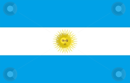Flag Of Argentina stock photo, 2D illustration of the flag of Argentina by Tudor Antonel adrian