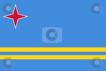Aruba Flag stock photo, 2D illustration of the flag of Aruba vector by Tudor Antonel adrian
