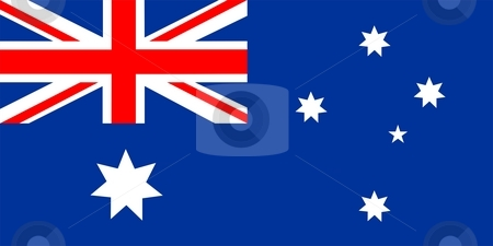 Australia Flag stock photo, 2D illustration of the flag of Australia vector by Tudor Antonel adrian