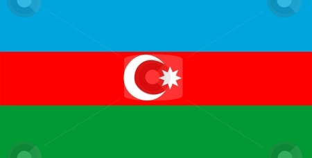 Azerbaijan Flag stock photo, 2D illustration of the flag of Azerbaijan vector by Tudor Antonel adrian