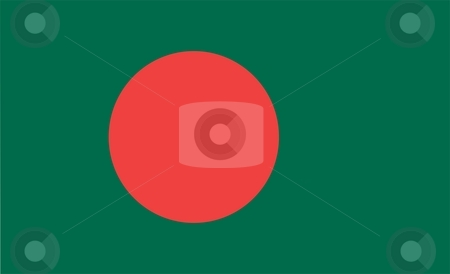 Bangladesh Flag stock photo, 2D illustration of the flag of Bangladesh vector by Tudor Antonel adrian