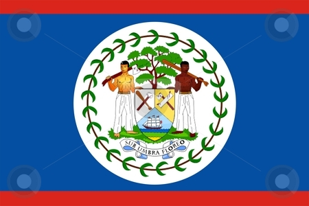 Belize Flag stock photo, 2D illustration of Belize flag color vector by Tudor Antonel adrian