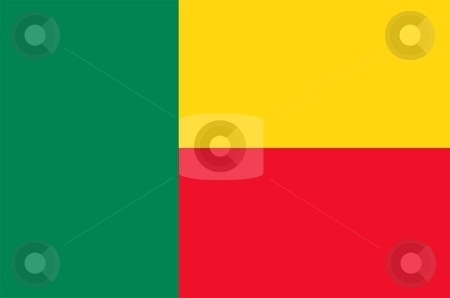 Benin Flag stock photo, 2D illustration of the flag of Benin vector by Tudor Antonel adrian