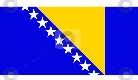 Bosnia And Herzegovina Flag stock photo, 2D illustration of the flag of Bosnia And Herzegovina vector by Tudor Antonel adrian