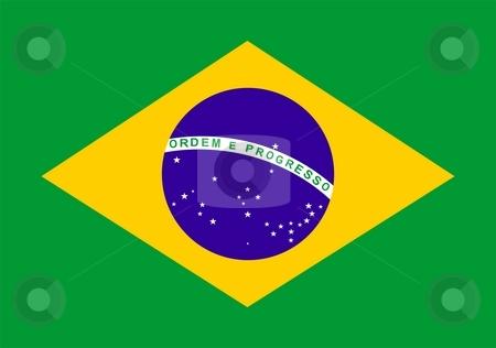 Brazil Flag stock photo, 2D illustration of the flag of Brazil by Tudor Antonel adrian