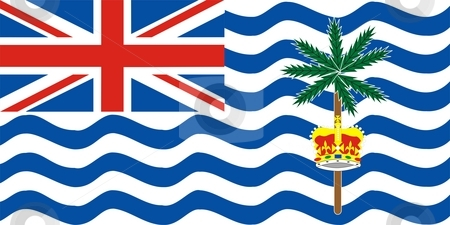 British Indian Ocean Territory stock photo, 2D illustration of the flag of British Indian Ocean Territory by Tudor Antonel adrian