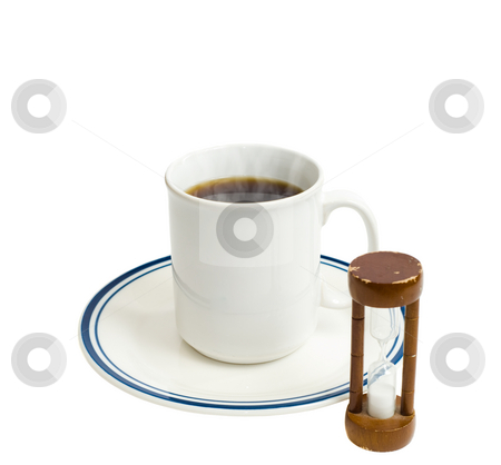Coffee Break stock photo, Concept image of a timed coffee break, isolated against a white background by Richard Nelson