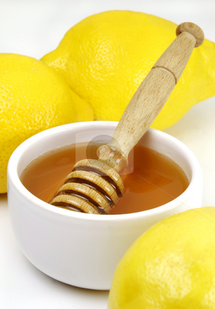 Honey and Lemons stock photo, Honey and lemons, a traditional cold remedy by Paul Turner