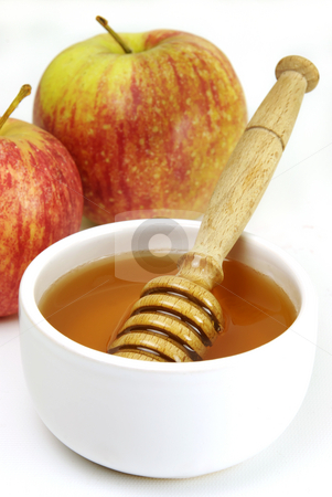 Honey and apples stock photo, Honey and apples, and ideal healthy snack by Paul Turner