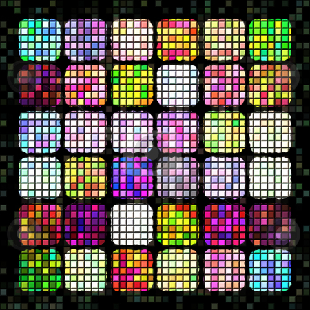 Bright colored blocks pattern stock photo, Texture of bright little blocks into cubes by Wino Evertz