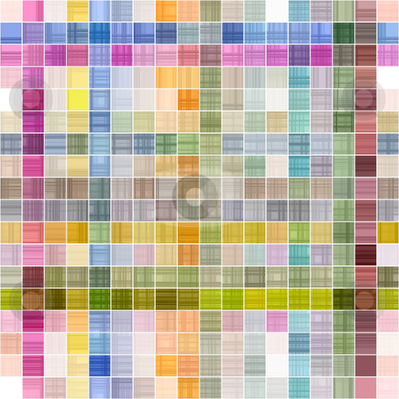 Grunge check pattern stock photo, Colorful seamless texture of checks, partly in rows by Wino Evertz
