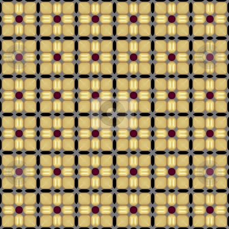 Corn square pattern stock photo, Seamless corn square texture in native style by Wino Evertz