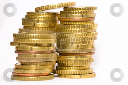 Euro coins isolated on white stock photo, Euro coins isolated on white by Luca Bertolli