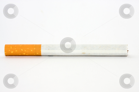 Cigarette stock photo, Cigarette isolated on white by Luca Bertolli