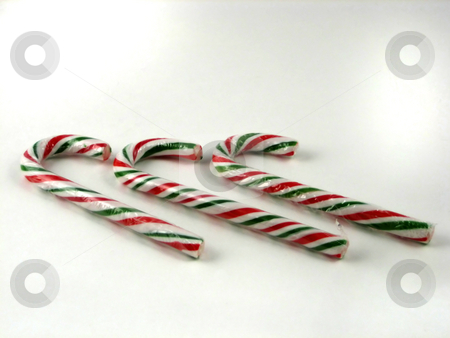 Candy Canes on white stock photo, Candy Canes for Christmas Decorations by Albert Lozano