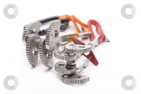 Camming Device stock photo, Camming device for rock climbing by Paulo Resende
