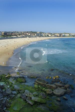 Bondi Beach stock photo, Sydney's famous Bondi beach by Stephen Gibson