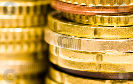 Euro coins stock photo, Euro coins by Luca Bertolli