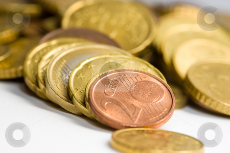 Euro coins stock photo, Euro coins by Luca Bertolli