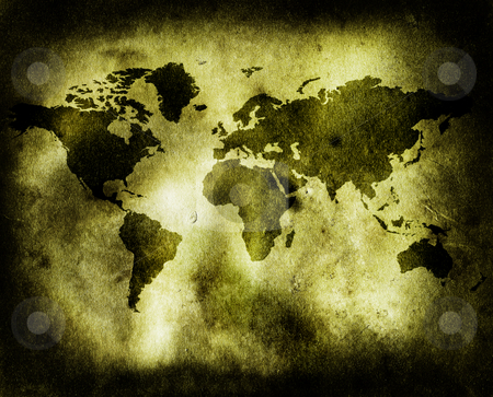 World map stock photo, World map looking very antique by Luca Bertolli
