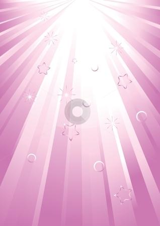 Light spread stock vector clipart, Vector pink light spread by Milsi Art