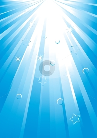 Light spread stock vector clipart, Vector blue light spread by Milsi Art