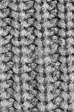 Wool Texture stock photo, A close-up of the texture of grey woolen fabric by Petr Koudelka