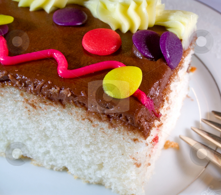 Cake3 stock photo, Slice of  chocolate cake with icing by Ira J Lyles Jr