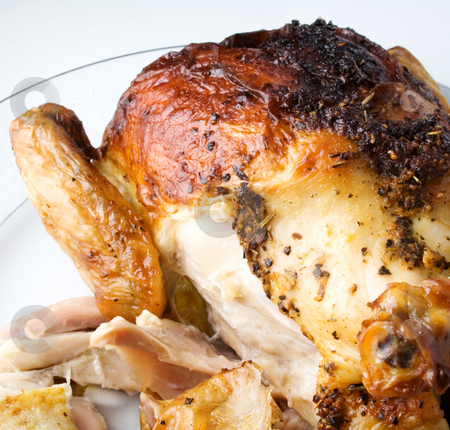 Roasted Chicken stock photo, Roasted chicken with white meat ready to serve or eat by Ira J Lyles Jr