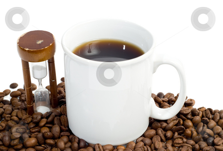 Timed Coffee Break stock photo, Concept image of a timed coffee break, isolated against a white background by Richard Nelson