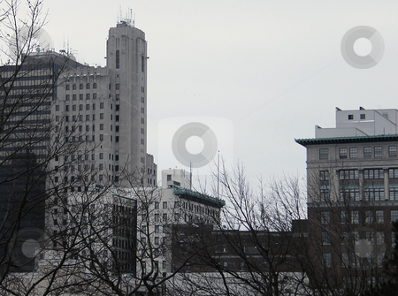 Downtown Toledo Buildings stock photo, Downtown Toledo Buildings on an overcast snowy day. by Dazz Lee Photography