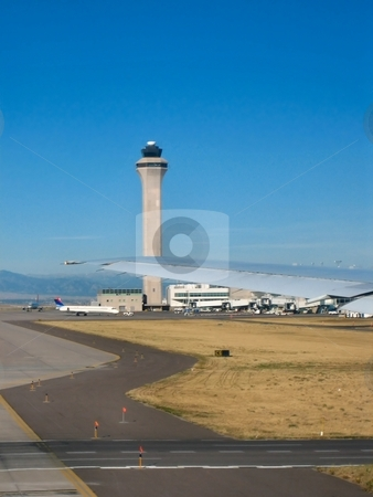 Airports and airplanes stock photo, Airplanes and airports by Albert Lozano