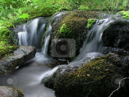 Mountain river. stock photo, Mountain river. by Ingvar Bjork