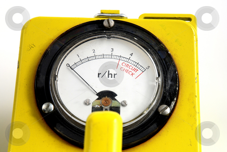 Radioactivity stock photo, Stock pictures of a geiger counter used to detect traces of nuclear radiation by Albert Lozano