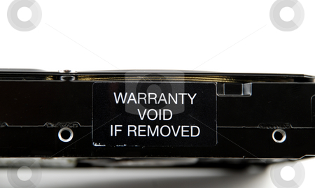 Warranty void stock photo, Stock pictures of a warranty void label by Albert Lozano