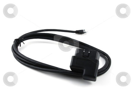 On Board Diagnosis Connector stock photo, Connector used to read data from the On Board Diagnosis (OBD) computer in a vehicle by Albert Lozano