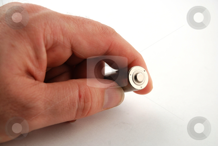 AA batteries stock photo, Stock pictures of generic AA batteries used in many consumer electronic devices by Albert Lozano