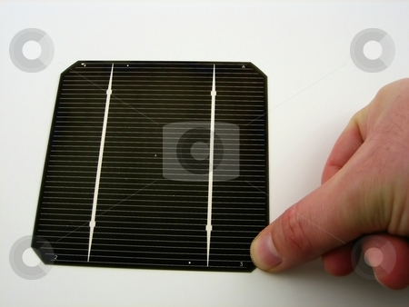 Solar cells stock photo, Close up of solar cells for alternative and green energy by Albert Lozano