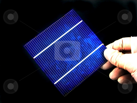 Solar cell research stock photo, Reserarch and development in solar cells by Albert Lozano