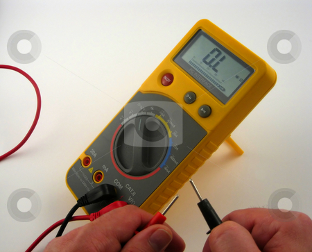 Electronic multimeter stock photo, Pictures of an electronic multimeter by Albert Lozano