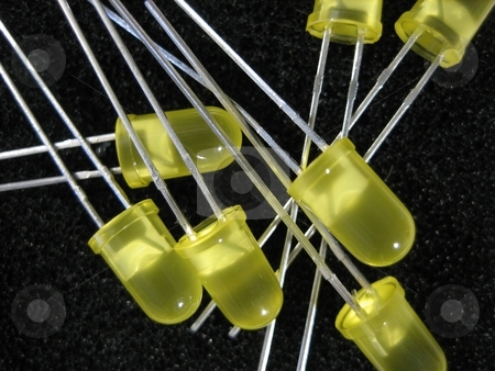 Electronic components stock photo, Electronic parts and components by Albert Lozano