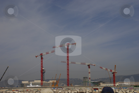 Construction equipment stock photo, Pictures of cranes and other devices used for construction purposes by Albert Lozano